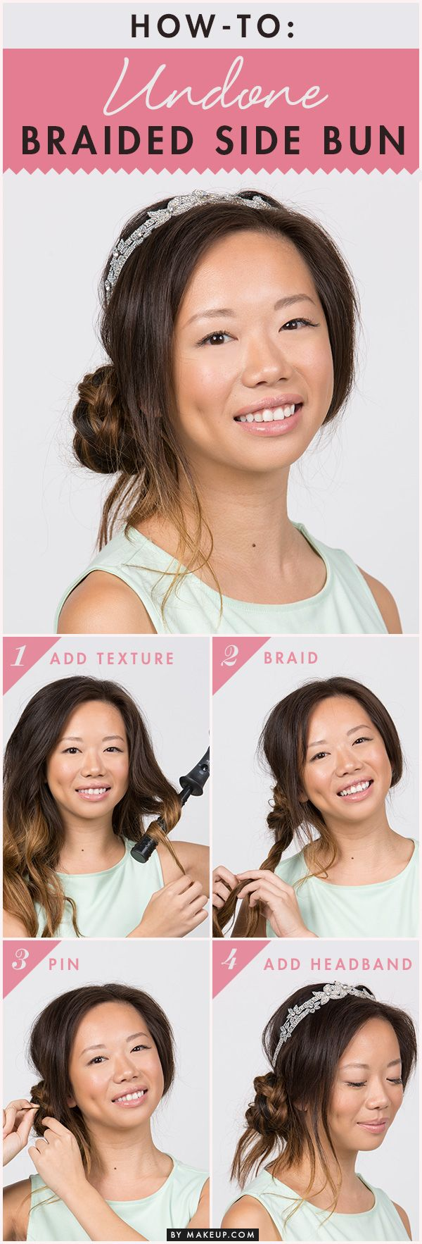 A braided side bun is the perfect look for girls that want to look effortless ye...