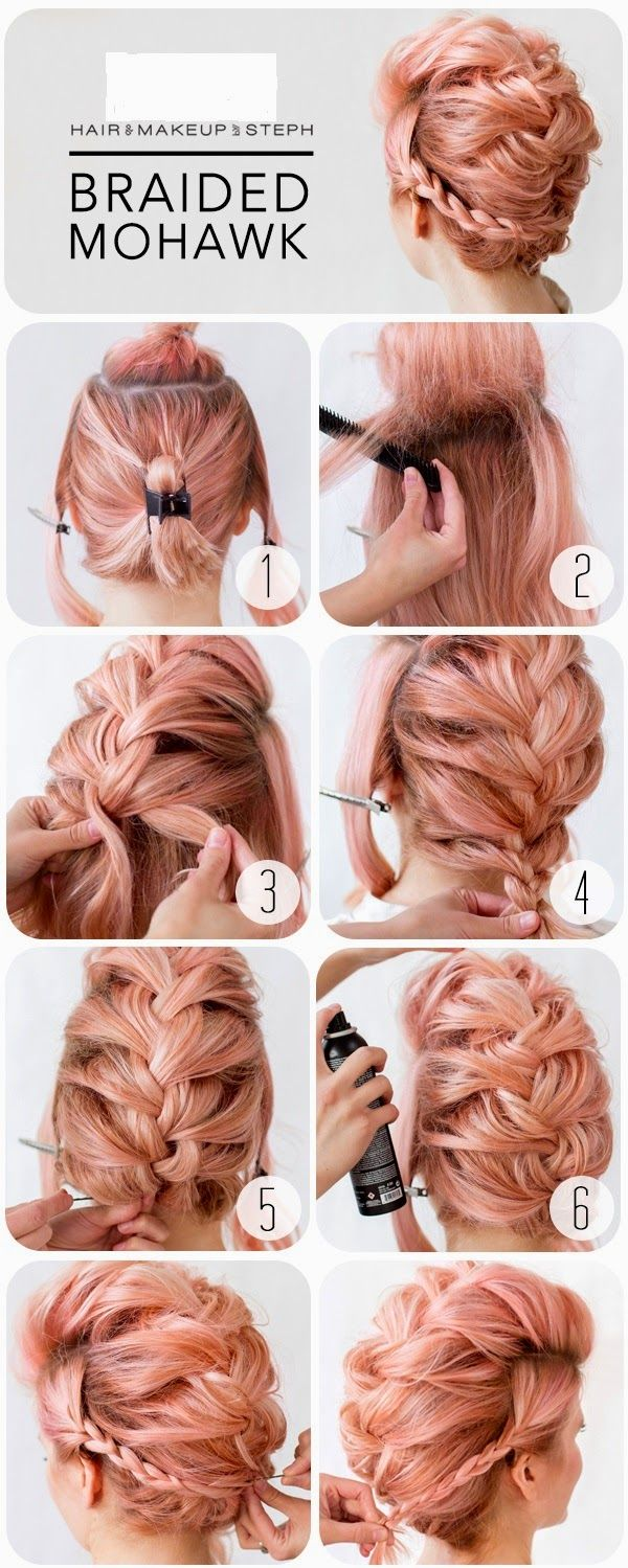 Braided Mohawk - This is a hairstyle that works on not only long hair but medium...