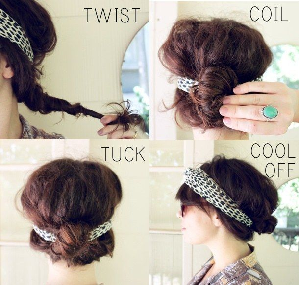 Cool down with a hair tuck made easy with the help of a headband. | 19 Naturally...