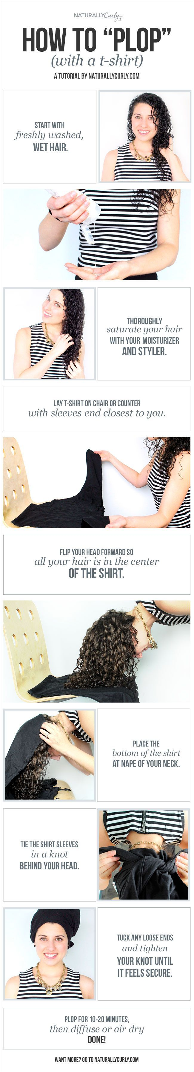 Cut down your air drying time without ruining your curls! - This helps promote v...