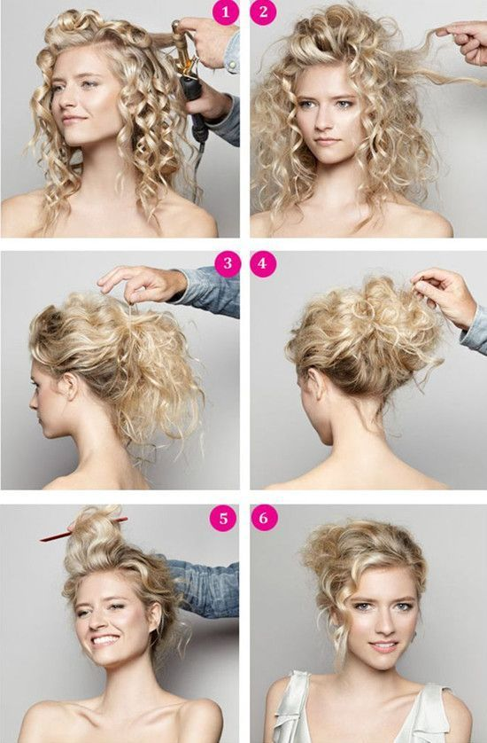 DIY Wedding Hairdo diy long hair updo curls braids curly hair diy hair hairstyle...