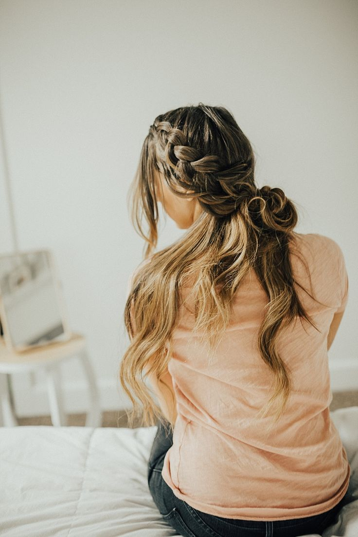 French Braid Twisted Half Up Hairstyle Tutorial