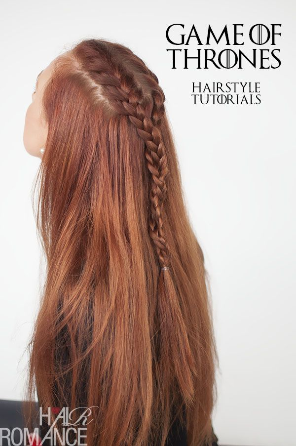 Game of Thrones Hairstyles – Sansa Stark braid tutorial