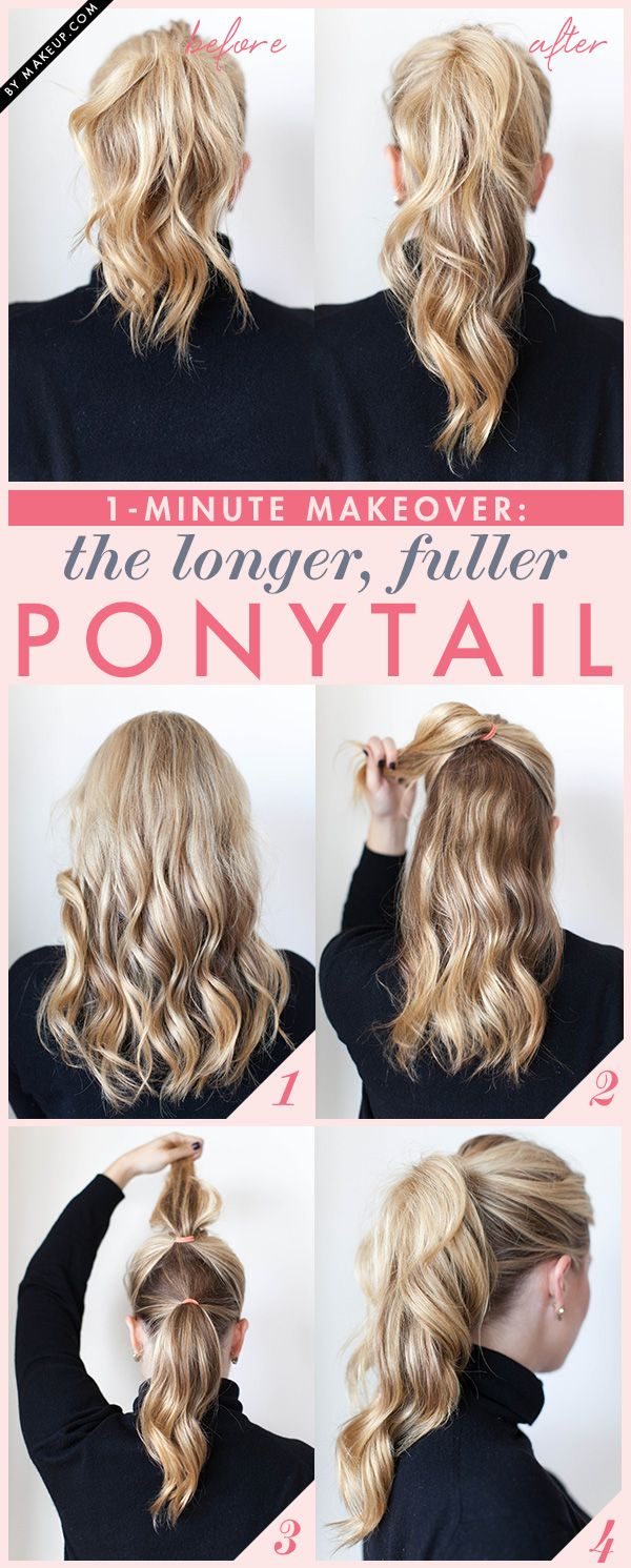 Give your ponytail a new look with this simple tutorial that will nearly double ...