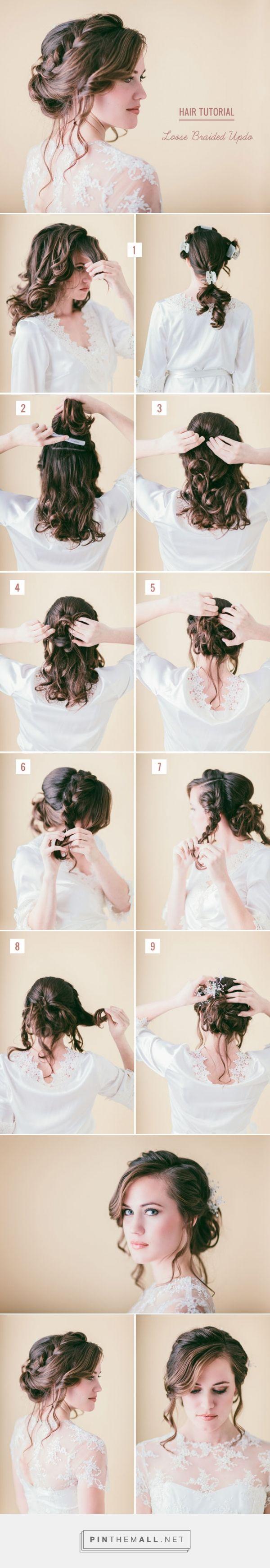 Hair Tutorial: Loose Braided Updo | Green Wedding Shoes Wedding Blog | Wedding T...