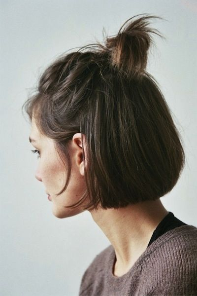 Half-up anything is the definition of effortless glam—simply tie the very top ...