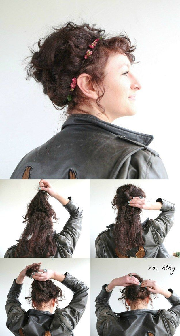 Harness the volume and wrap your hair into an easy beehive. | 19 Naturally Curly...