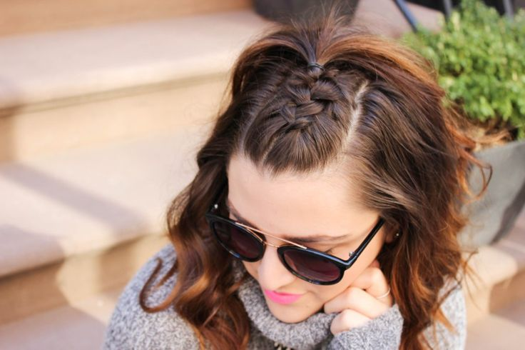 {Hask Hair Party | Simply Audree Kate} Half-up Half-down french braid undo with ...