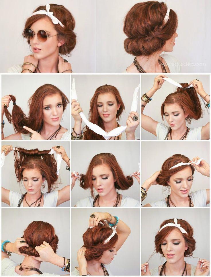 Headscarf Roll Hair Style - Full Tutorial - Style Hunt World | Makeup Tutorials ...