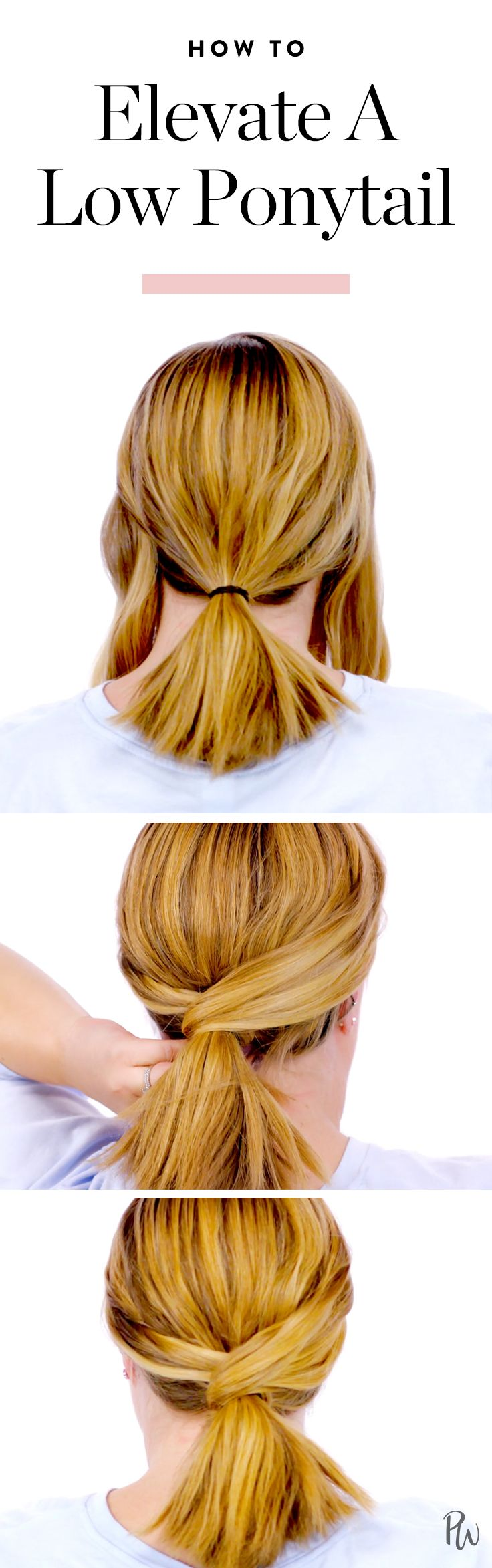 Here's how to elevate a low ponytail for an ultra chic (and simple) hairstyle. #...