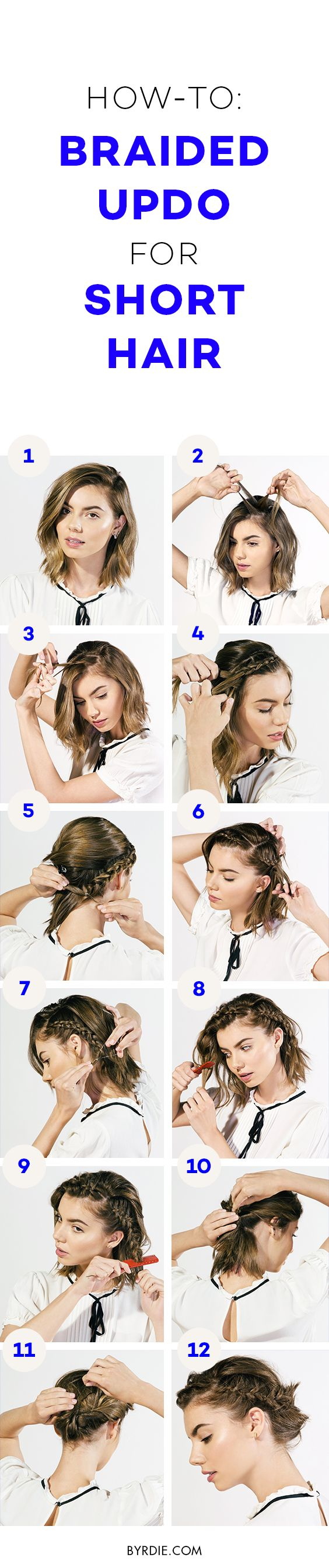 How to braid short hair