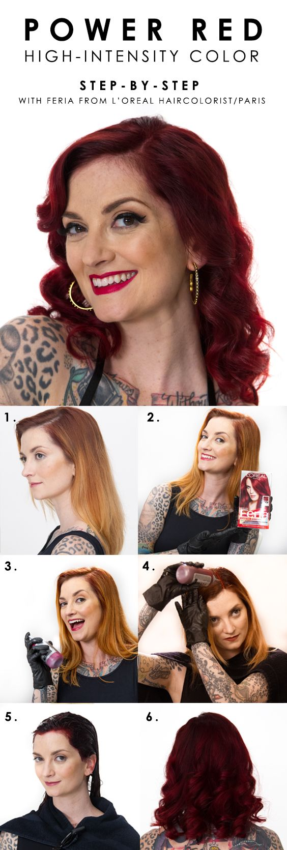 How to go deep red with L'Oreal Paris Feria Power Red in R57 Cherry Crush. W...
