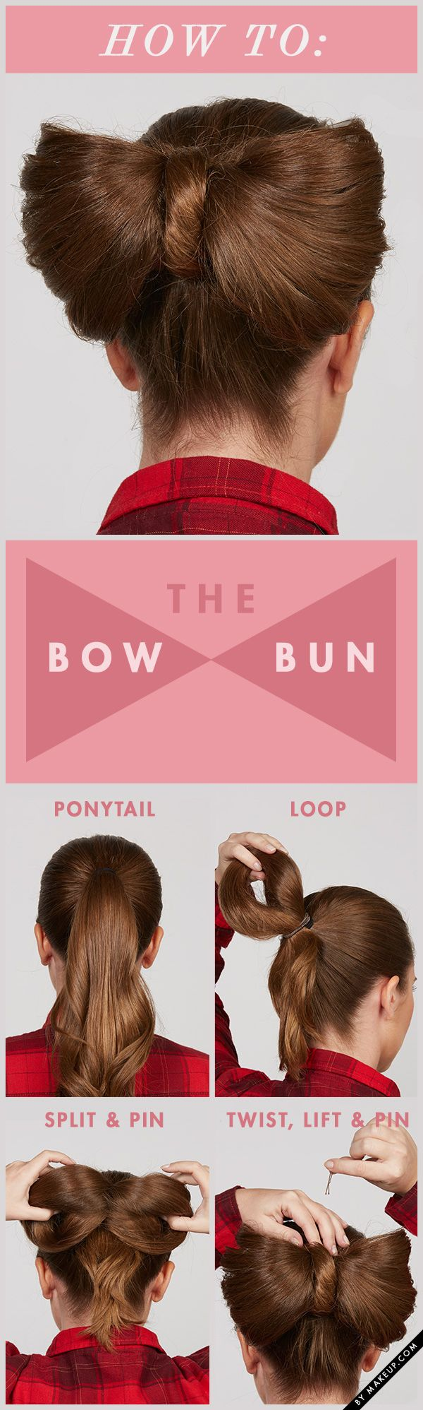 If you have a wedding or a special occasion coming up, try this bow bun hair tut...
