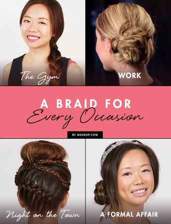 If you're ever in doubt about how to wear your hair, braids are always a goo...