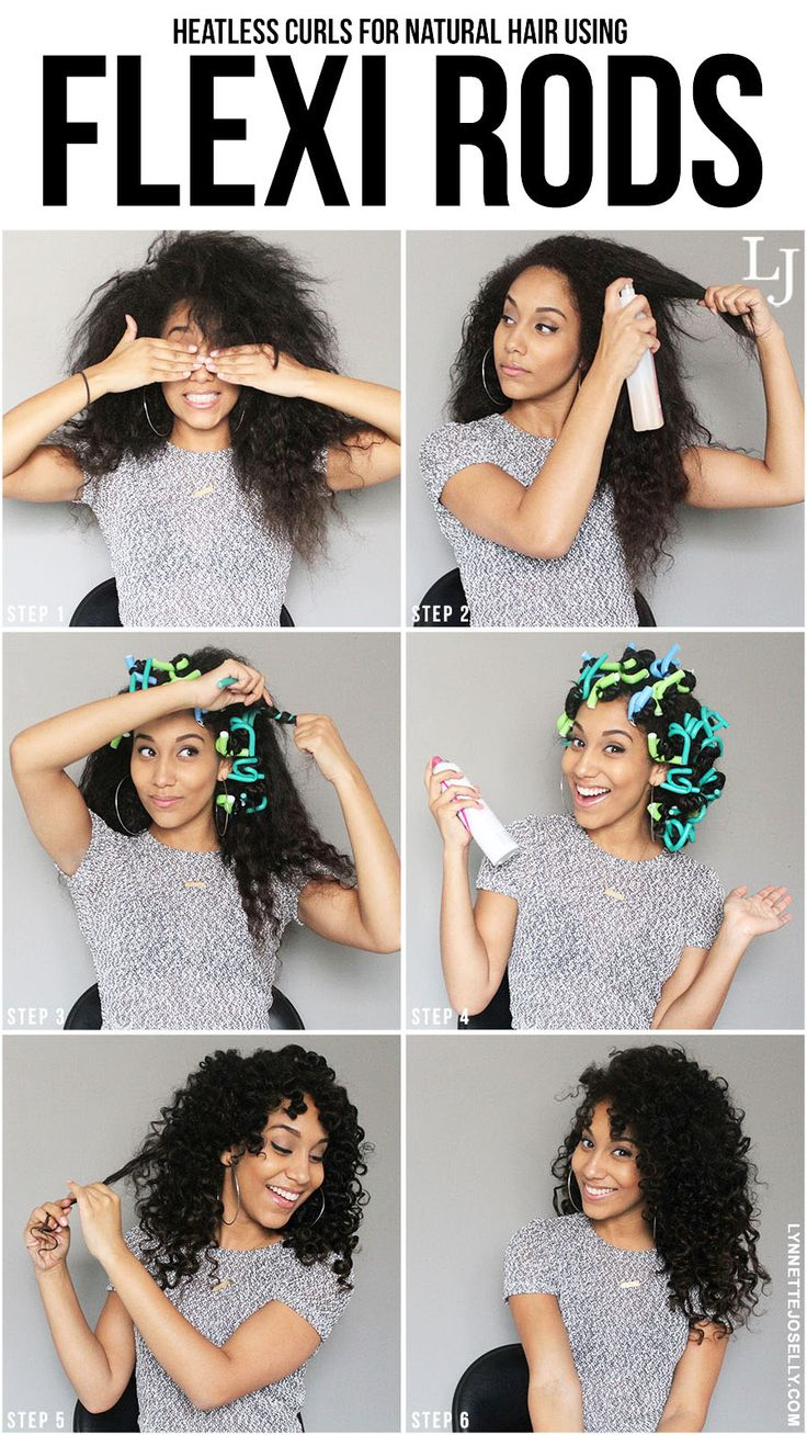 Lynnette Joselly: Heatless Curls for Natural Hair Using Flexi Rods #LatinaBlogge...