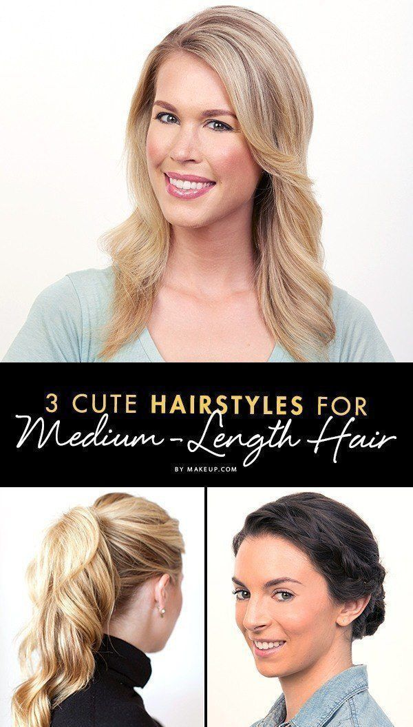 Medium hair is super cute and versatile, but girls with this hairstyle can some ...