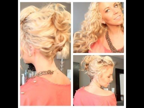 Messy Summa Updo: Perfect for curly, wavy, or second day hair.  Music By: Charit...