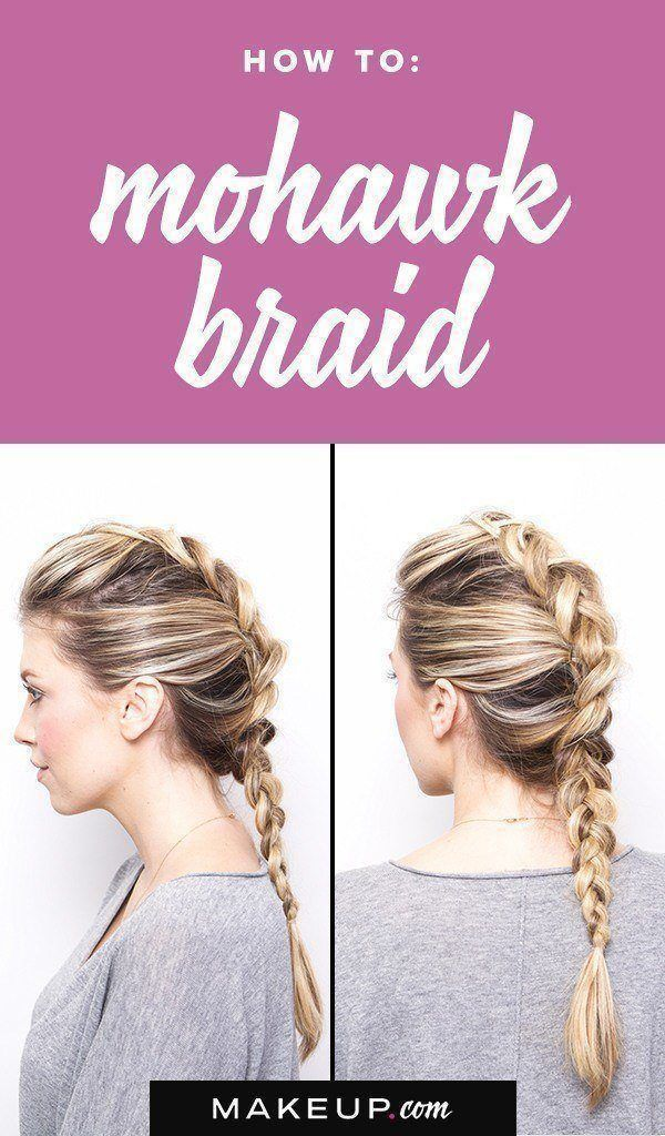 A little sassy, a little sweet, this Mohawk braid is the perfect braided hairsty...