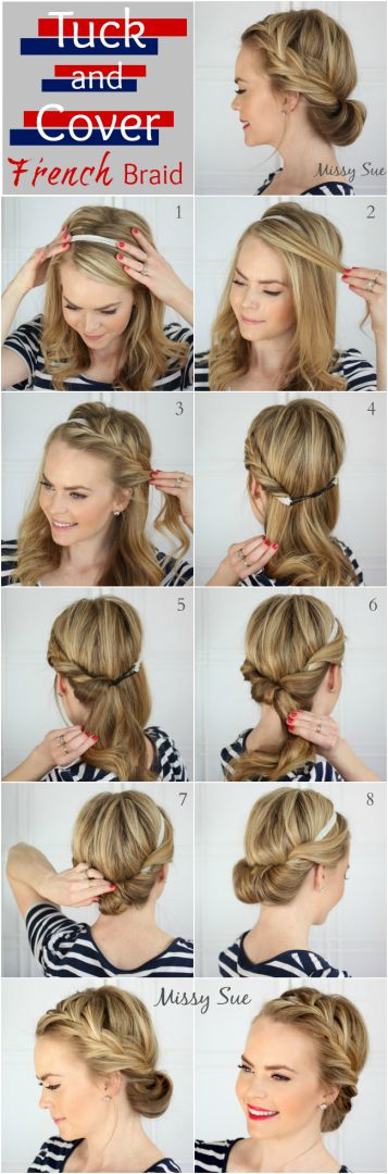Romantic French braid style | 10 Easy Elegant Wedding Hairstyles That You Can DI...