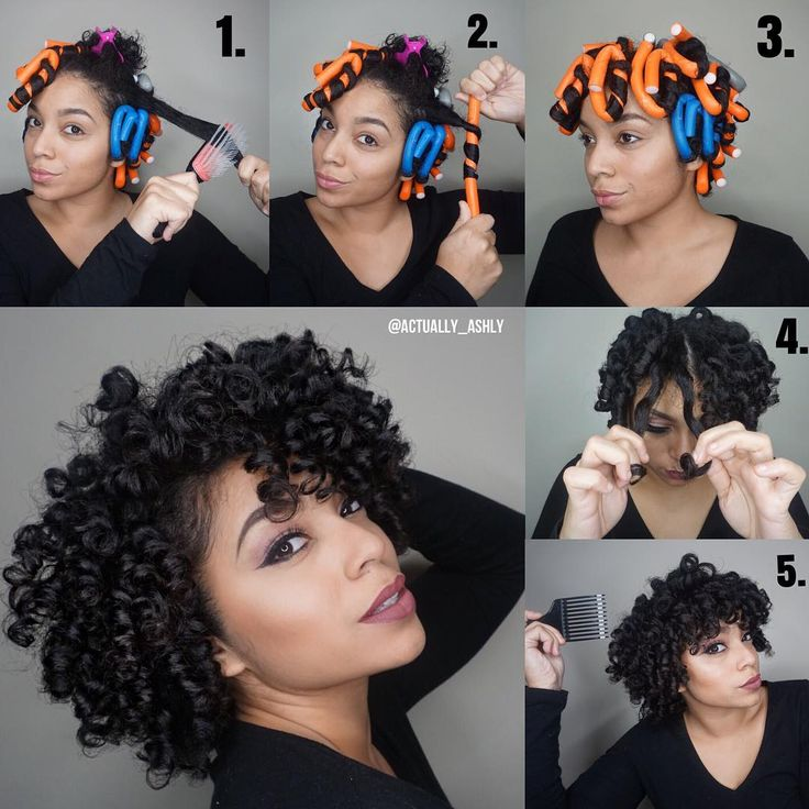 """""""Step by Step of my Flexi Rod Set using @ultrasheensupreme  Started on wet hai..."""
