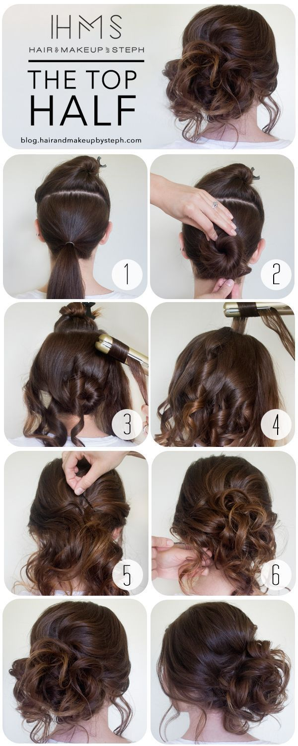 The Half Top Hairstyle Tutorial hair prom updo bun diy hair hairstyles wedding h...