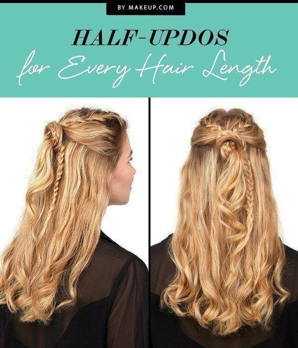 The half-updo is the hairstyle we love the most right now, and it works wonders ...