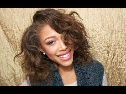 The Simple Way to Trim Your Hair: Including Curly Hair, Layers & Bangs - YouTube
