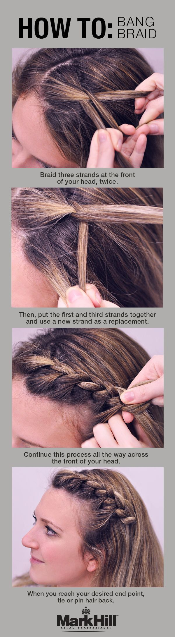 This Tuck and Cover French Braid is the perfect way to keep hair out of your fac...
