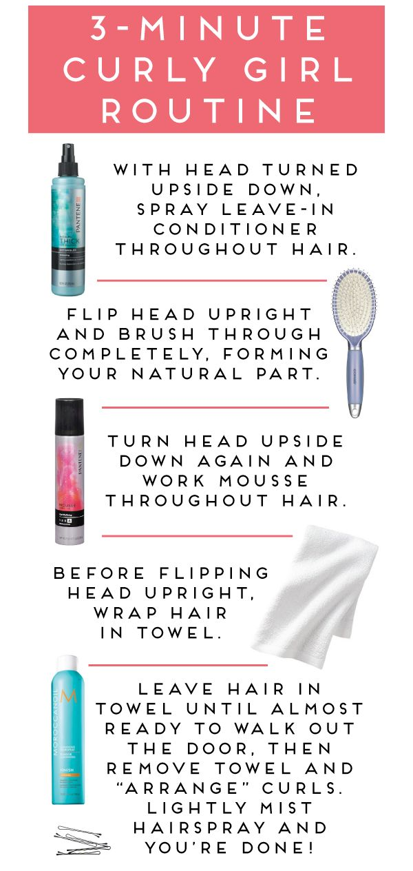 Hair Tutorials Three Minute Curly Hair Routine I D Have To Start At Step 3 There Is No Wa Beauty Haircut Home Of Hairstyle Ideas Inspiration Hair Colours Haircuts Trends