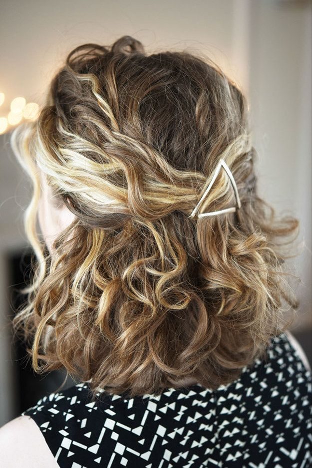 Use gold-plated hair slides to create a half-up hairstyle like this one. | 17 In...