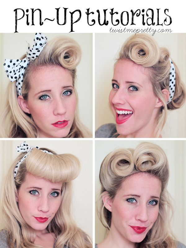 Victory Rolls: A Pin-Up Hair Tutorial thepinuppodcast.com shares this images to ...
