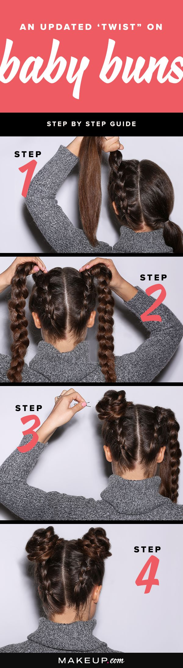 We're giving the baby bun hairstyle a twist with this easy DIY hair tutorial...