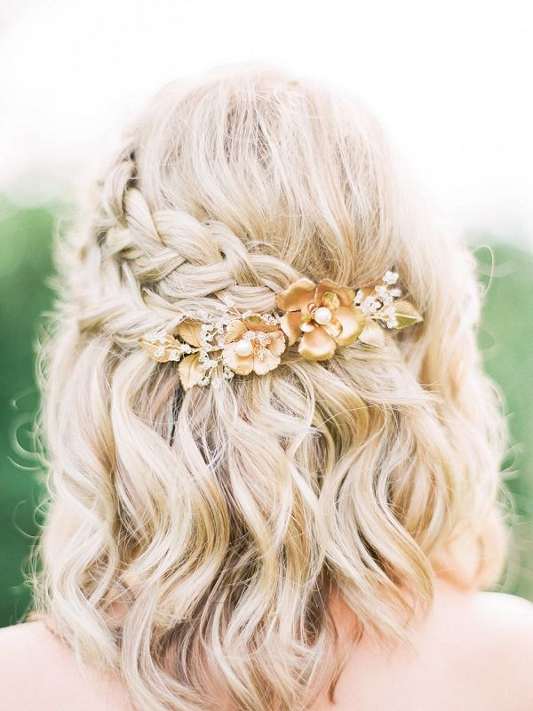 Half Up Half Down Wedding Hairstyles Cute Bridal Braid Style For Short Hair Beauty Haircut Home Of Hairstyle Ideas Inspiration Hair Colours Haircuts Trends