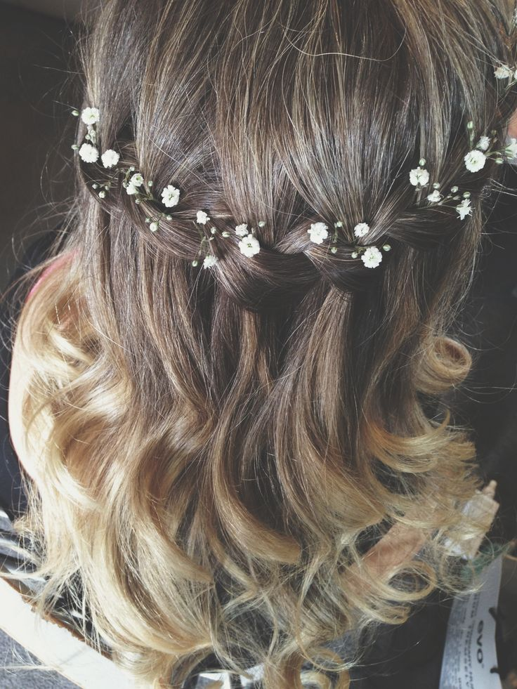 Gypsophila can be added if you would like very delicate flowers in your hair and...