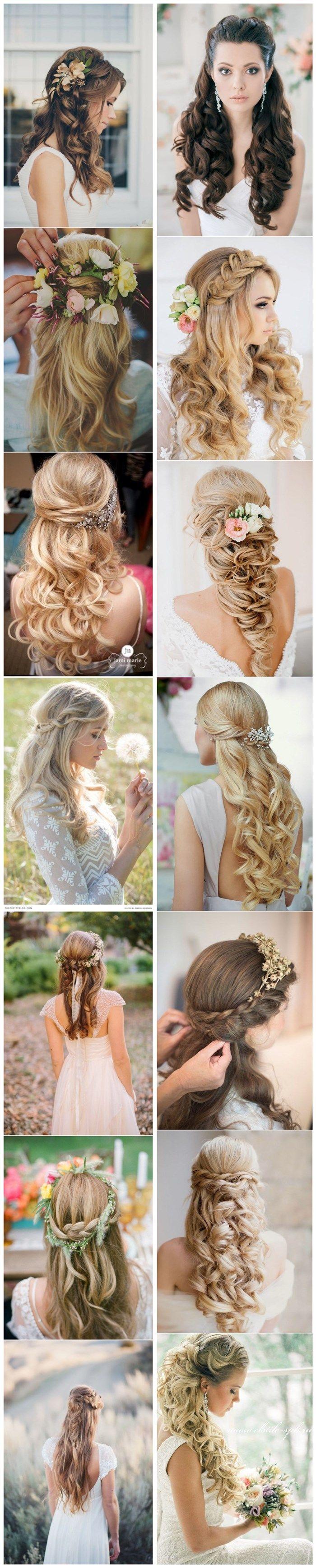 40 half up half down wedding hairstyles / www.deerpearlflow...