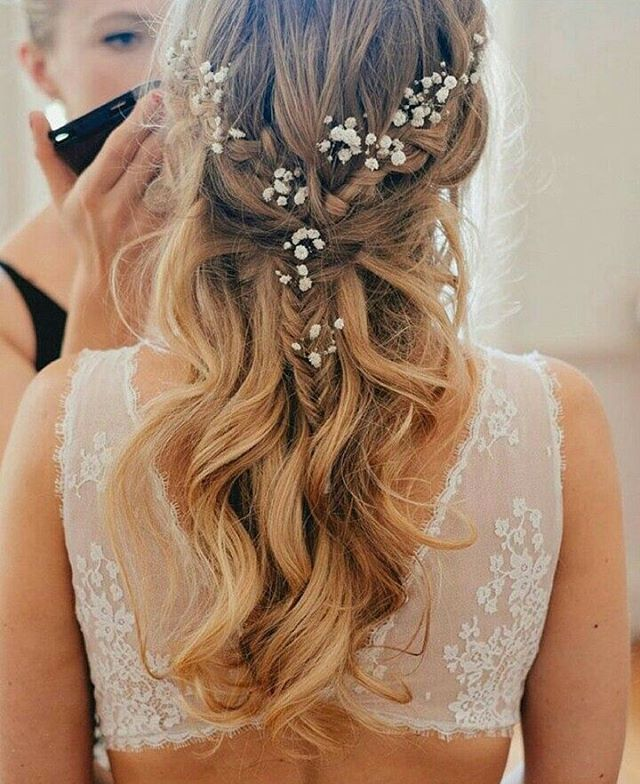Loving the hair style that oozes a simple yet elegant look. Incorporating baby&#...