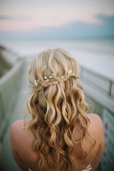 So pretty..love the curly waves and its down. Don't know if I want my hair d...