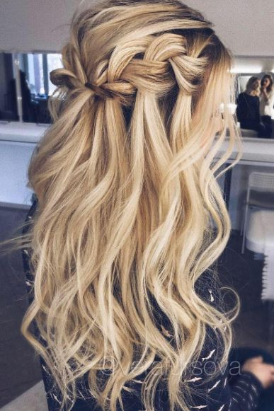 Voluminous Waterfall Braid by Vera Fursova.