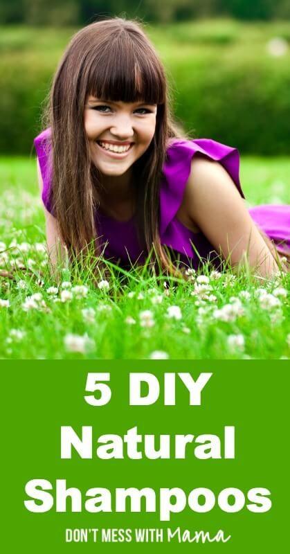 5 DIY Natural Shampoos #DIY #Beauty - DontMesswithMama.com