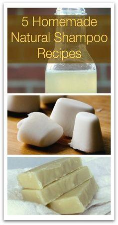 5 Homemade Natural Shampoo Recipes - Natural Holistic Life #natural #shampoo…