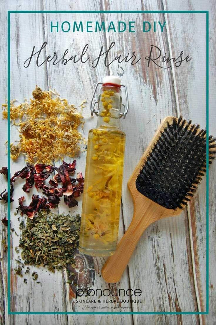 DIY Herbal Hair Rinses • pronounceskincare...