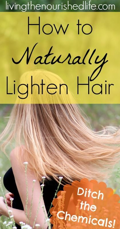 How to Naturally Lighten Hair - www.livingthenour... #howto #naturally #natural ...