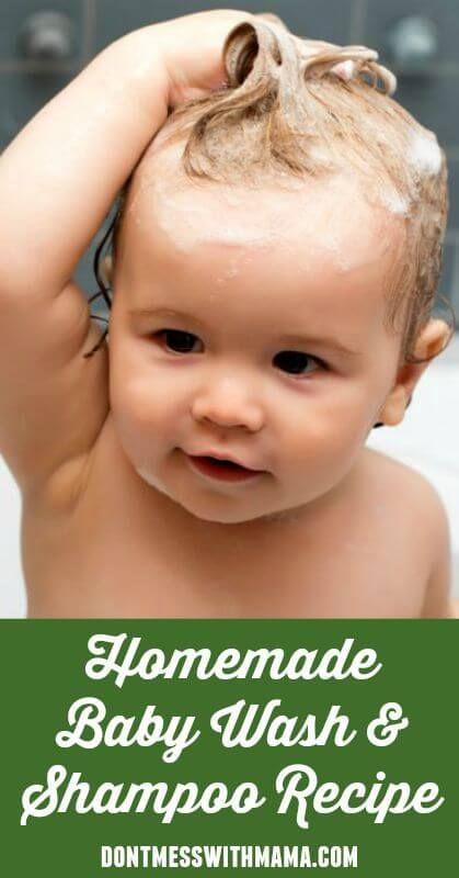 Natural Homemade Baby Wash and Shampoo #natural #baby #homemade #DIY - DontMessw...
