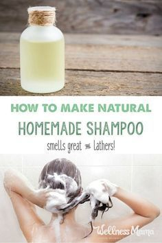 This homemade shampoo is all natural and has four ingredients (or less depending...