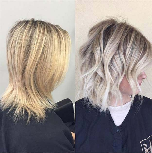 Balayage Ideas for Short Hair - Light Blonde Bob: Messy Curly Hairstyle - Tips, ...