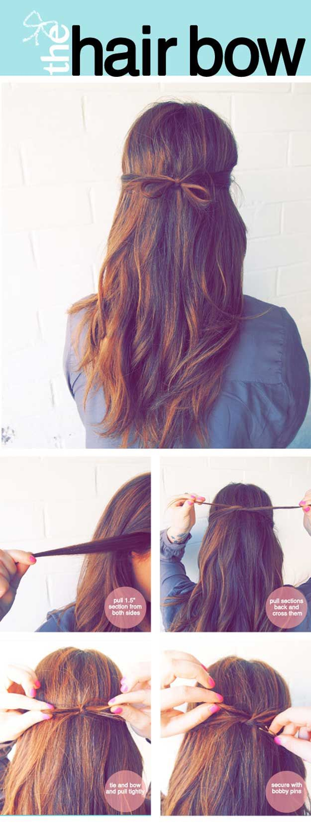 Best 5 Minute Hairstyles - The Hair Bow - Quick And Easy Hairstyles and Haircuts...