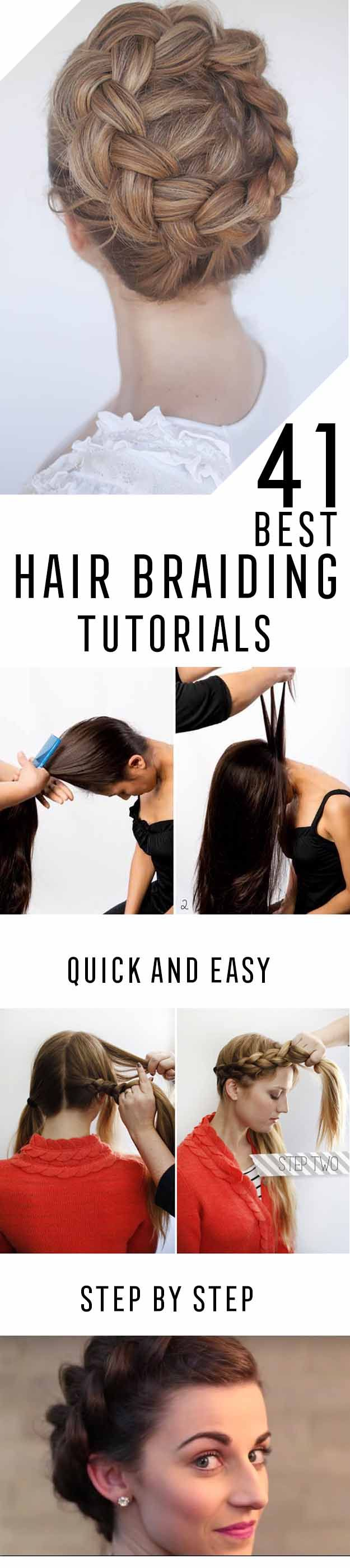 Best Hair Braiding Tutorials - Step By Step Easy Hair Braiding Tutorials For Lon...