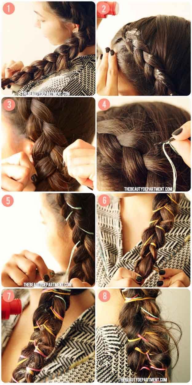 Best Hair Braiding Tutorials - String weaver - Step By Step Easy Hair Braiding T...