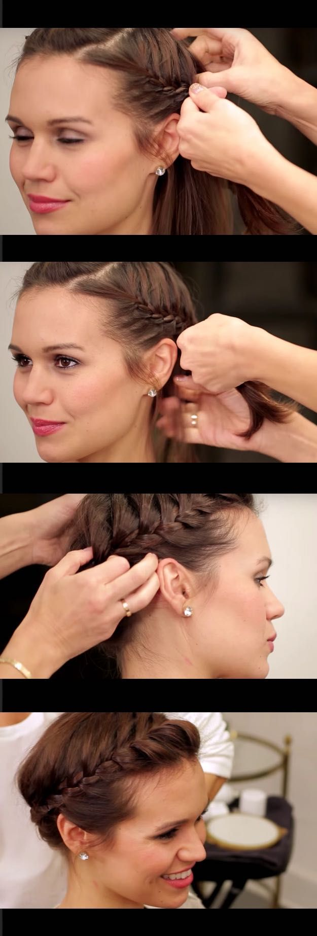 Best Hair Braiding Tutorials - The Perfect Halo Braid for Short Hair NewBeauty T...