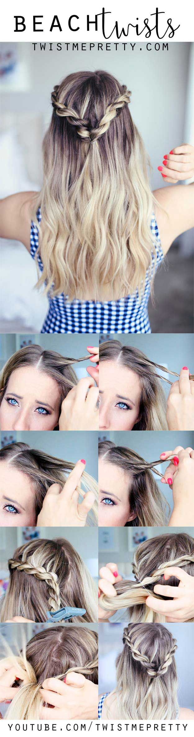 Best Hairstyles for Summer - Cute Summer Hairstyle - Beach Twists - Easy and Cut...